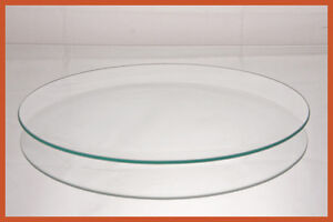 "10"" Round Clear  ""BENT"" Glass Plate 1/8"