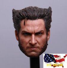 1/6 Wolverine Head 4.0 Hugh Jackman / X-Men Days of Future Hot toys Phicen ❶USA❶