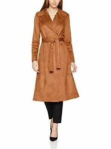 promo code 07ed3 4736f Dettagli su NIFE cappotto giacca giaccone donna marrone cammello ecopelle  camoscio t 42 S