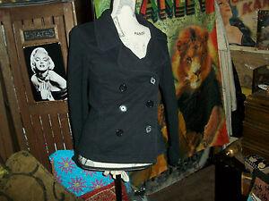 NORMA-KAMALI-Cool-Jet-Black-Coat-Size-M
