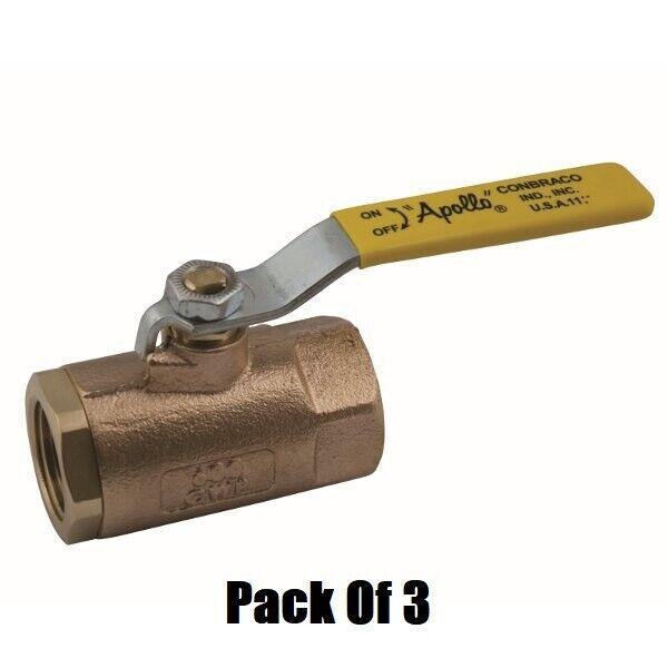 Box 10-1//2 Apollo 70LF-103-01 600# Brass Thrd Ball Valves