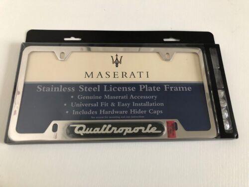 Maserati Polished Steel Quattroporte License Plate Frame P//N 2018102