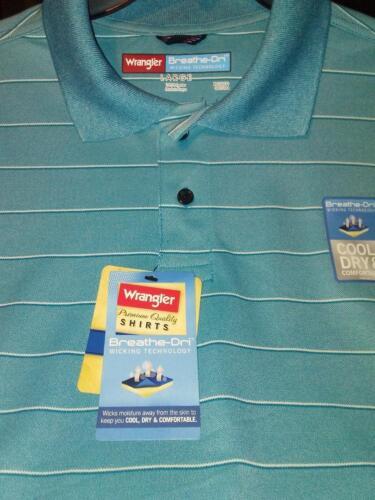 Wrangler Men/'s Polo Sport Shirt With Breathe-Dri technology NWT your choice.