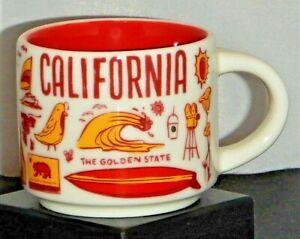 Starbucks 2018 California Been There Series 2oz Ornament Mini Mug Cup Espresso