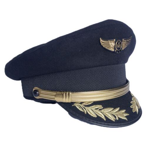 Custom Upscale Pilot Cap Airline Captain Hat Uniform Hat Party Cap Military Hats