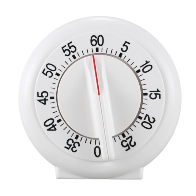 60 Minute Mechanical Wind-Up Timer - White D7Q1