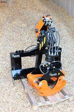 Euro- Anbaubock+OH019+GR46+Seilwinde- Rückezange-Holzgreifer-Rotator-Frontlader