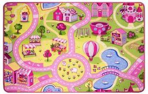 Kid-039-s-Girls-Funfair-Floor-Mat-Rug-Carpet-Children-039-s-Bedroom-Playroom-Play-Fun