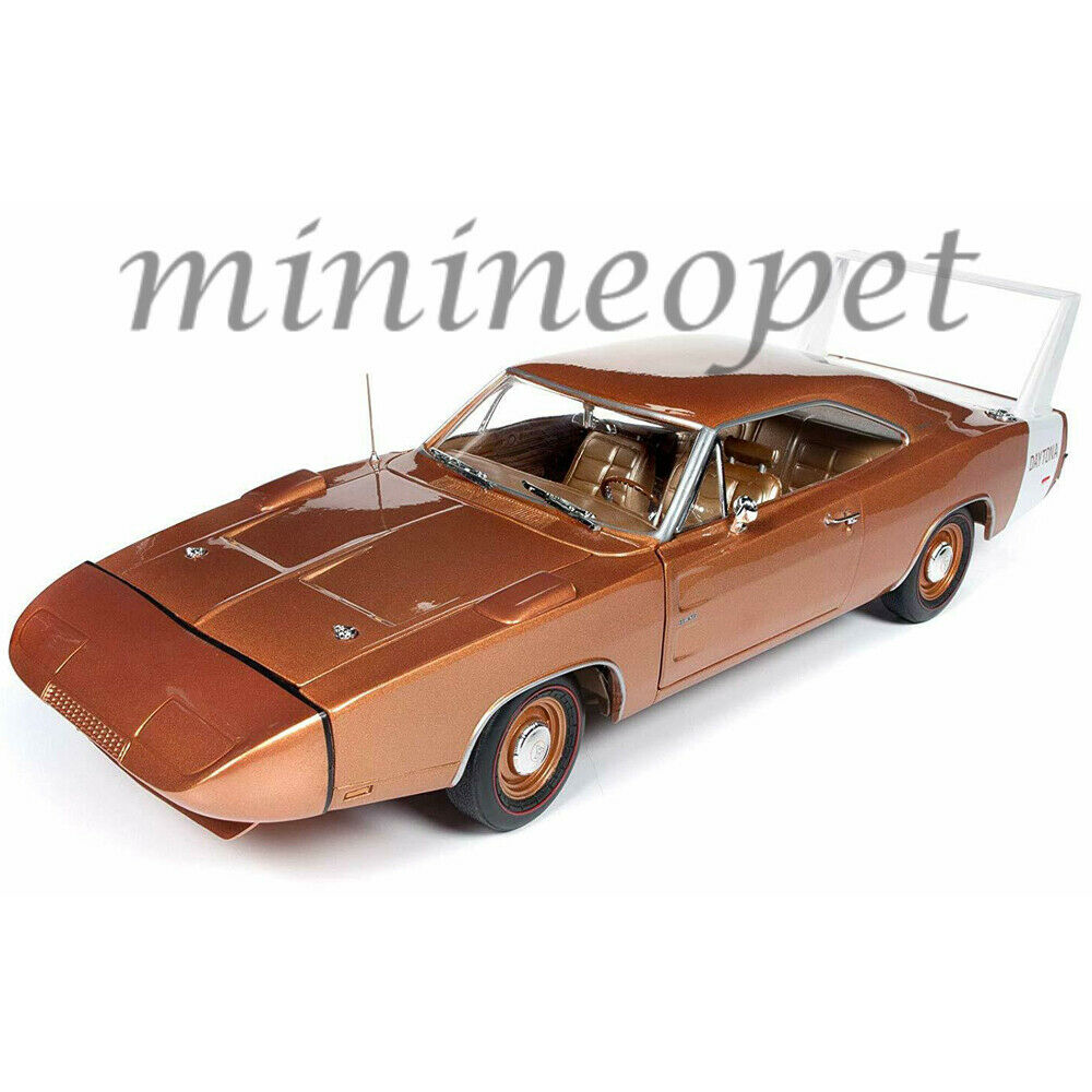 AUTOWORLD AMM1168 1969  DODGE CHARGER DAYTONA 1 18 DIECAST voiture BRONZE MCACN  remise