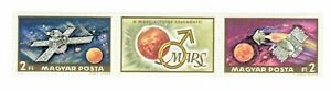 S22037) Hungary 1972 MNH Mars Exploration 2v + Tab