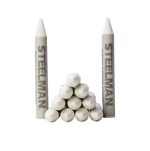 Box of 12 00063 White Tire Marking Crayons