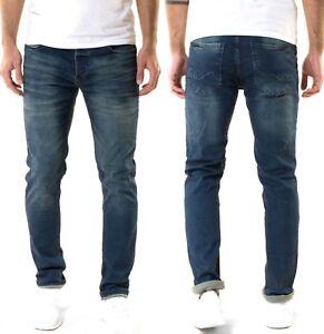 Serseri-Herren-Designer-Slim-Fit-Stretch-Jeans-Hose-Dunkelblau-W29-W30