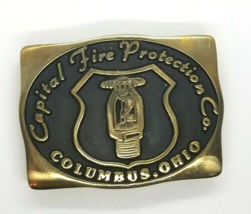VTG Solid Brass Belt Buckle- Capital Fire Protecti
