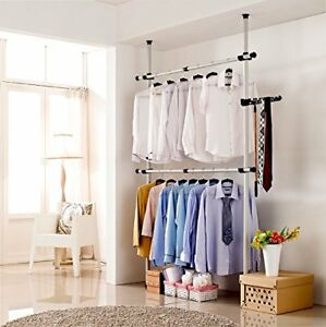 Image Is Loading Portable Closet System Wardrobe Clothes Storage Rack  Organizer