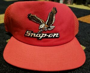 ecce511c0fb81 RARE! Vintage Snap-on Tools Trucker Hat Red Snapback New Era Made in ...
