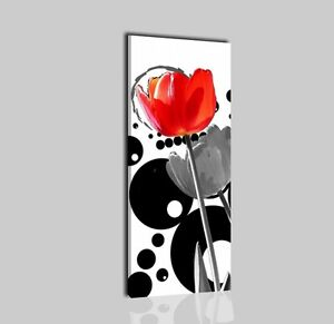 Quadri moderni astratti verticali dipinti a mano su tela for Quadri moderni fiori dipinti a mano