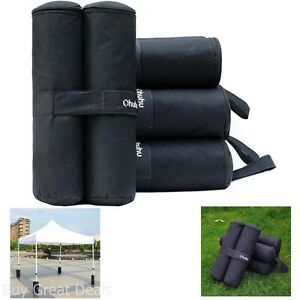 Outdoor-Camping-Shelter-Tent-Canopy-4-Black-Fabric-Weight-Bags-Instant-Legs-40Lb