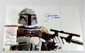 JEREMY-BULLOCH-034-BOBA-FETT-034-SIGNED-STAR-WARS-11x17-METALLIC-PHOTO-AUTOG-ID-6535