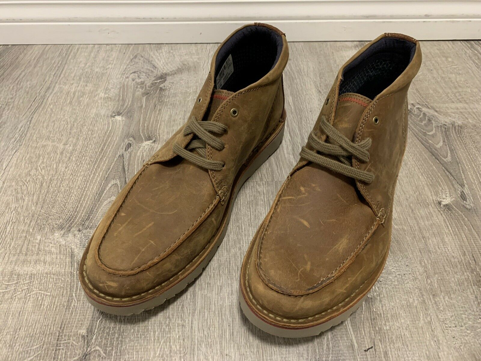 Chukka Boots Dark Tan Leather Size 10.5