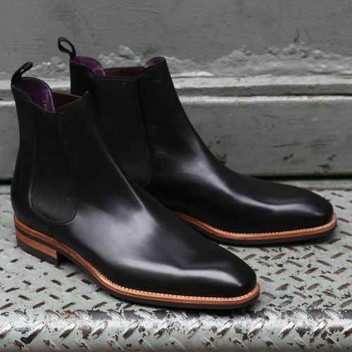 Hecho a Mano Cuero Botas al al tobillo para hombre negro, botas al al tobillo para Hombre, Para Hombre Botas Chelsea 09f3d5