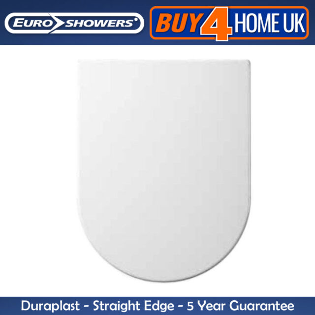 Euroshowers Square Shaped Soft Close Toilet Seat Square Top /& Bottom Fix No S...