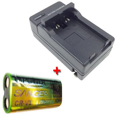 Bateria CR-V 3 cargador Samsung digimax 350se a400 401