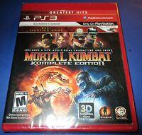 Mortal Kombat - Komplete Edition - Playstation 3 - Ps3 - - Free Shipping