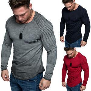 Oversize-Biker-Style-Herren-Longsleeve-Vintage-Sweatshirt-Crew-Neck-Shirt-6095
