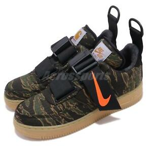 Nike Air Force 1 Low Utility X Carhartt WIP Tiger Camo Green Orange ... 63d370887