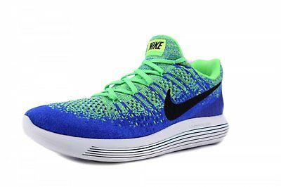 b52d086f0293 Nike Lunarepic Low Flyknit 2 Blue Green Sprite Men Running Shoes ...