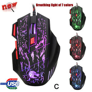 5500DPI-7Buttons-USB-LED-Optical-Wired-Gaming-Mouse-Mice-For-PC-Laptop-Pro-Gamer