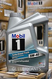 mobil 1 turbo diesel truck engine oil 5w40 gallon. Black Bedroom Furniture Sets. Home Design Ideas