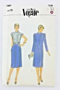 Very-Easy-Vogue-Vtg-Sewing-Pattern-Size-16-Jacket-Dress-Bust-38-UNCUT-PA149