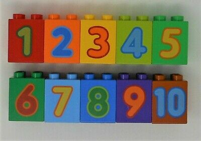Learn to Count Numbers 1-10 Lego DUPLO 2x2 Tall Bricks Blocks