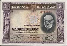 Spanien / Spain 50 Pesetas 1935 Pick 88 (2)