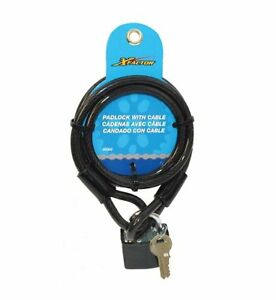 X Factor Bicycle Padlock and Key with Cable Lock