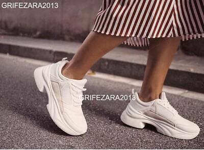 ZARA CHUNKY SOLE SNEAKERS WHITE SHOES