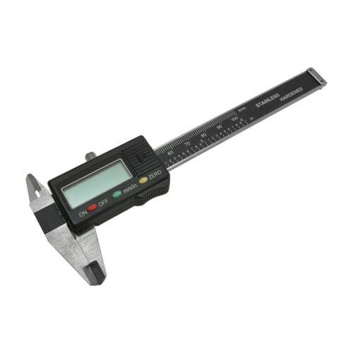 """4/"""" Electronic Digital Caliper Ruler Vernier 100mm Stainless Harden Gauge Gage"""