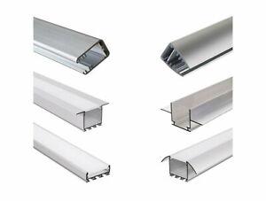 LED-Aluminium-Profil-Aluprofil-Abdeckung-eloxiert-Strip-Lichtband