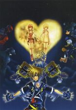 POSTER KINGDOM HEARTS 2 3 ROXAS SORA RIKU KAIRI KEYBLADE PSP #4