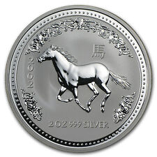 2002 2 oz Silver Lunar Year of the Horse (Series I)