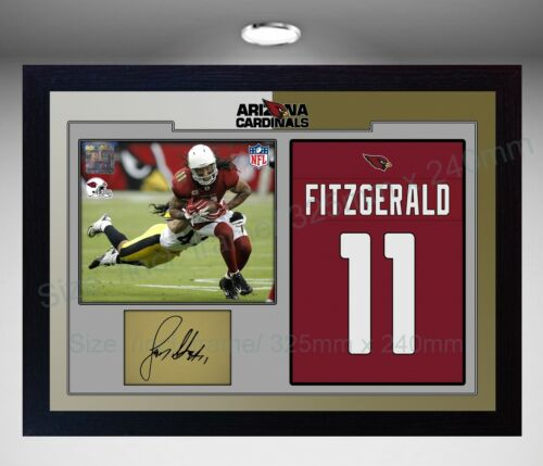 Larry Fitzgerald Arizona Cardinals NFL signed autograph American Football Framed