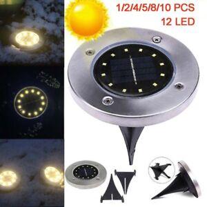 12LED-Solar-Power-Buried-Light-Under-Ground-Lamp-Outdoor-Path-Way-Garden-Decking