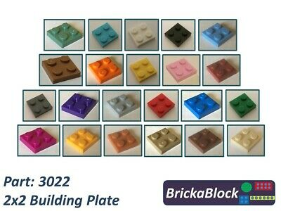 ALL COLOURS SAME PRICE NEW Lego Part 3022 2x2 Plate Choose 2,5,10,15,20 or 30