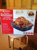 Roshco Nonstick Roaster With Floating Slide-ease Rack. Box Shows Some Wear.