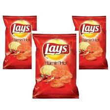 Frito Lay, Lay's Flamin' Hot Potato Chips, 7.75oz Bag (Pack of 3)