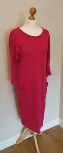 Jaeger-Pink-Tunic-Smock-Dress-Size-Small-8-10-12-Casual-Smart-Pockets-New