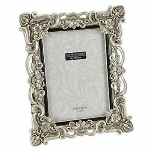 Antique-Silver-Vintage-Ornate-Shabby-Chic-Picture-Photo-Frame-7-034-X-5-034-FR47757
