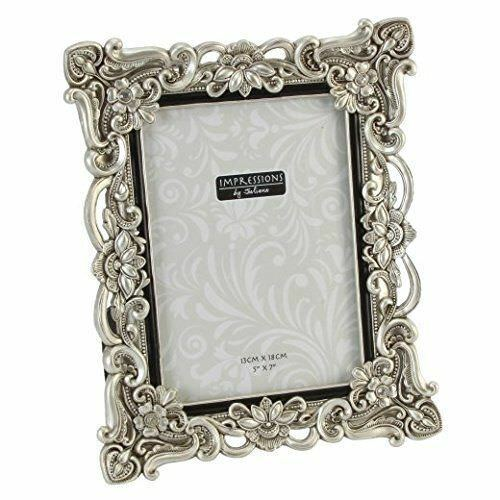 Antique Silver Finish Crystals Photo Frame.4 X 6. 5 X 7. 6 X 8. 8 X ...