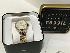 NEW ARRIVAL! FOSSIL MOD SOPH CRYSTALS GOLD-TONE BRACELET WATCH BQ1573 $125 SALE